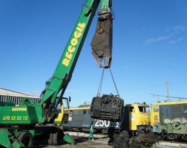 Desguace locomotoras en la Fonteta de Sant LLuis